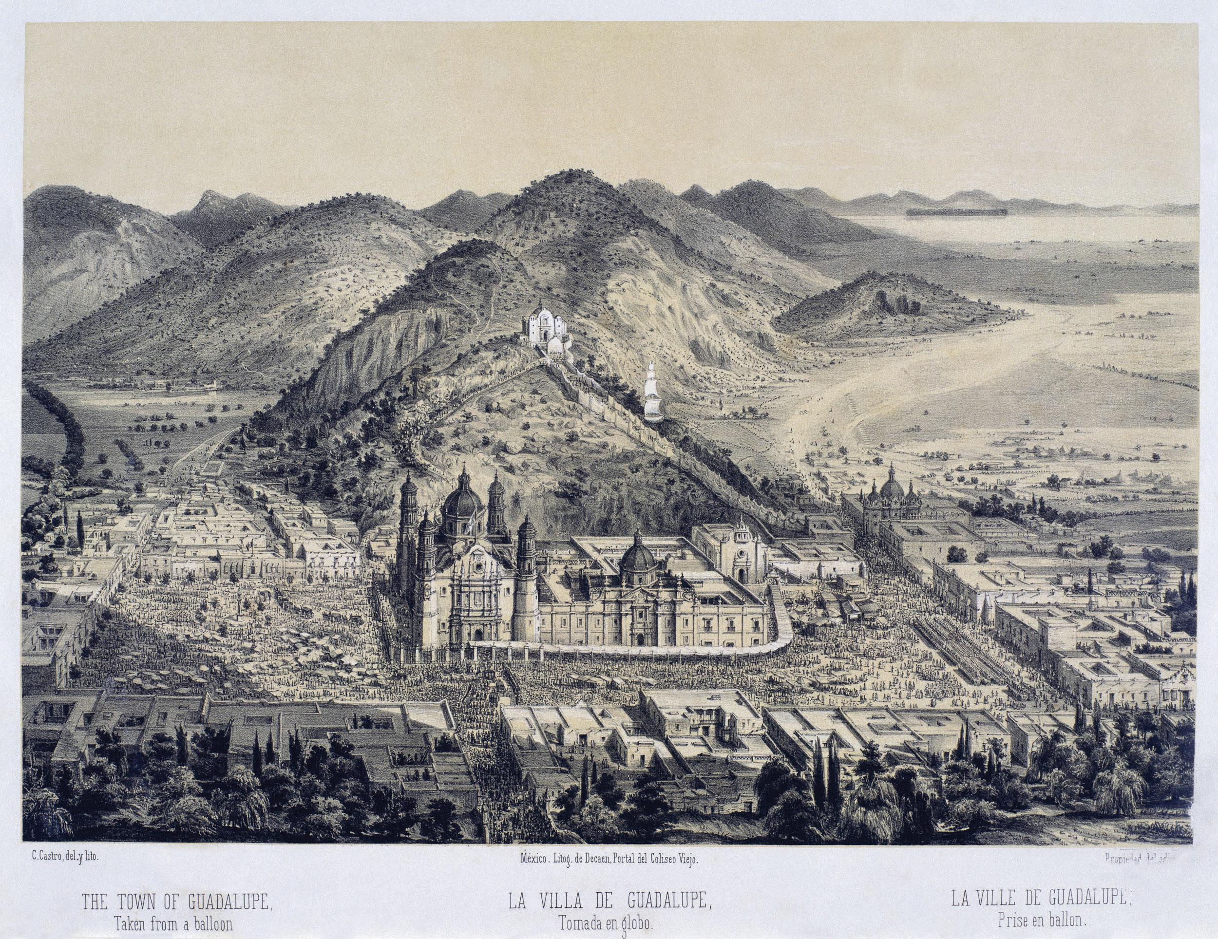 La Villa de Guadalupe tomada en globo – Works – Museo Nacional de Arte